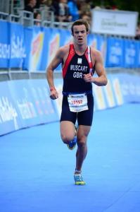 Jamie run in GB Kit